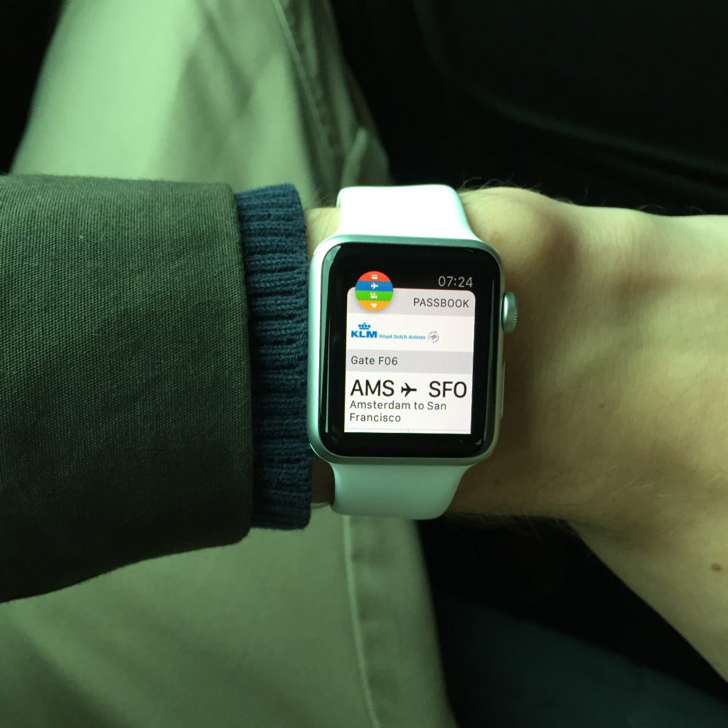 Boarding using Passbook app on Apple Watch