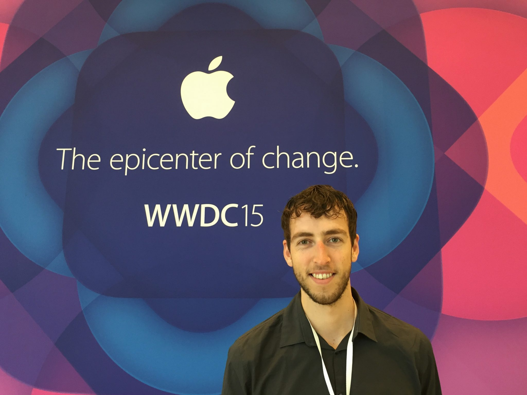 Me performing one of the WWDC first timer tips: take a selfie!