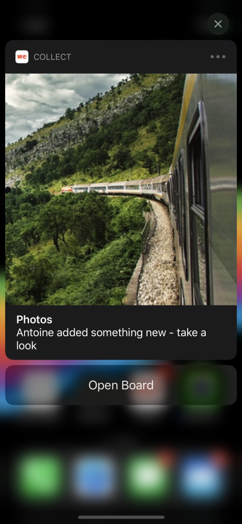 A rich actionable notification with a button