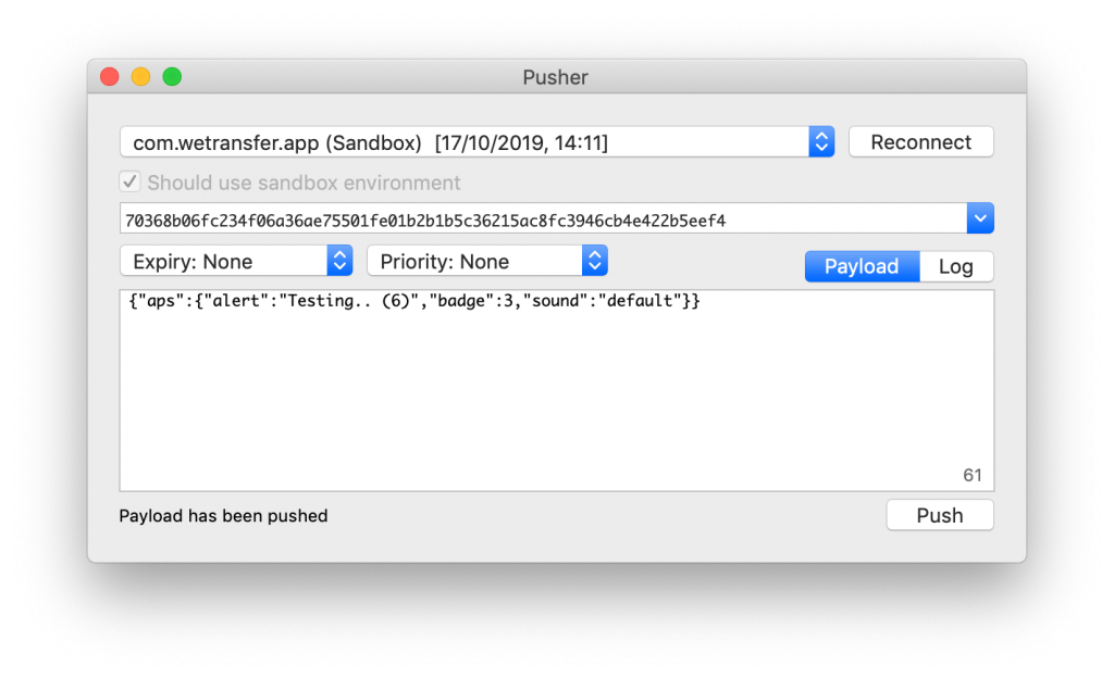 A Mac app to test push notifications on iOS