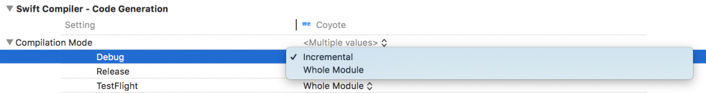 Xcode 10 Incremental Builds