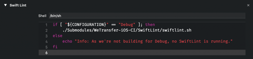 Build phase optimization by only running for debug builds.