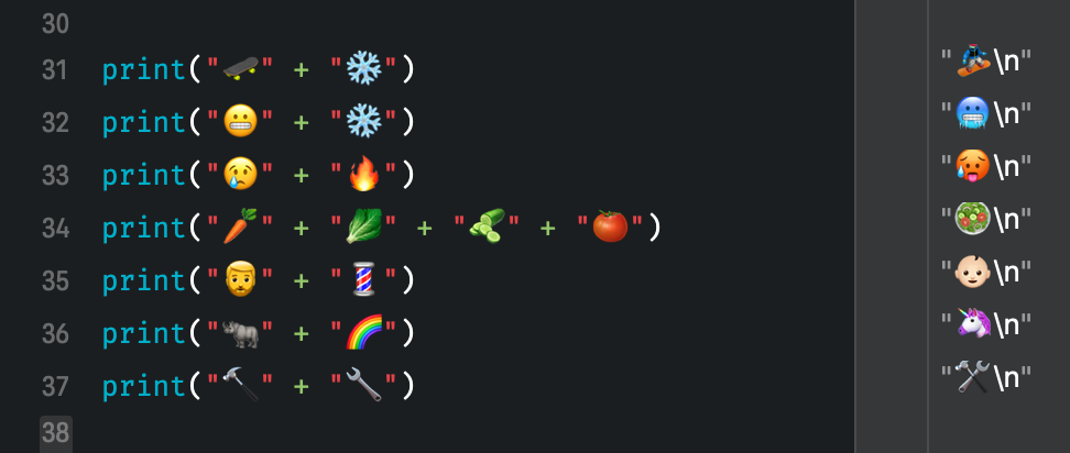 Custom operators in Swift to calculate with emojis