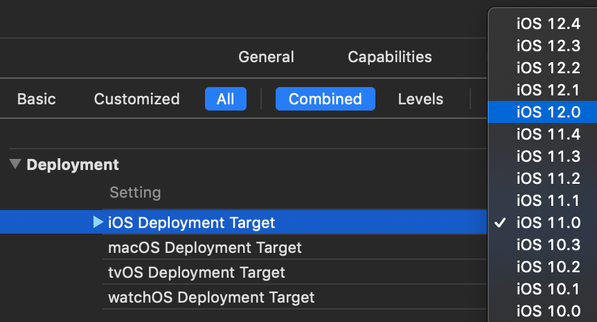 Changing the minimum supported iOS version