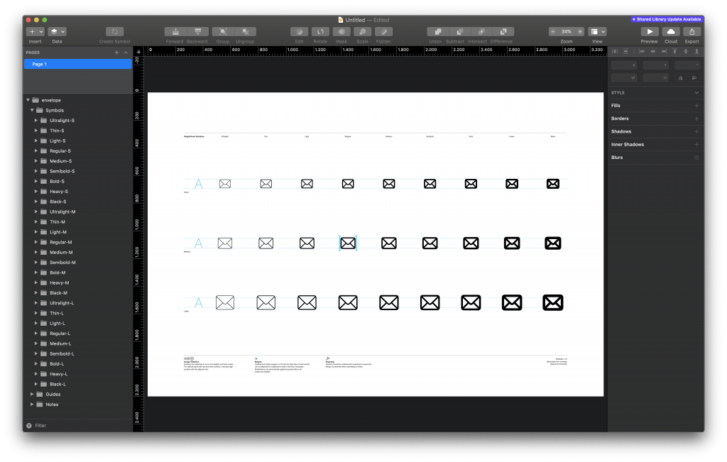 An exported SF Symbol opened as SVG in Sketch