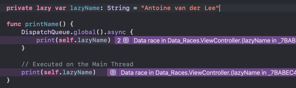 A Data Race caused by a lazy variable