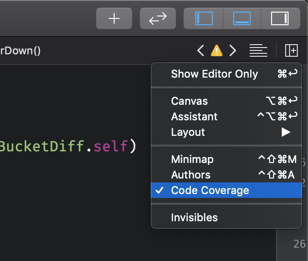 Enabling code coverage in the editor