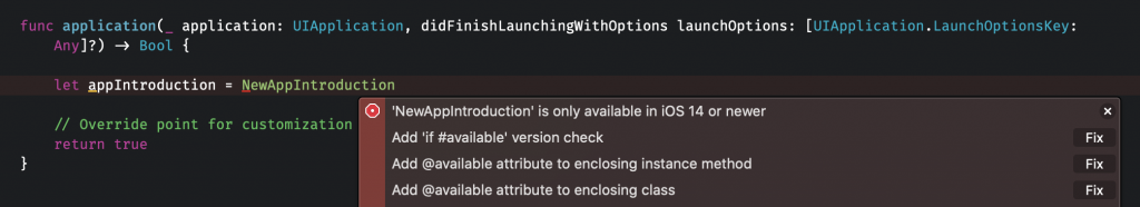 An error occurs if you're creating an instance which is not available.