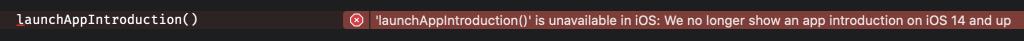 Marking a method as deprecated in Swift.