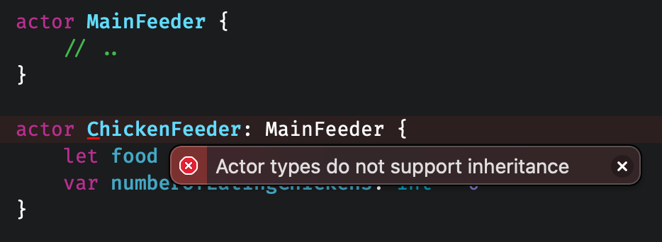Actors in Swift are almost like classes, but don't support inheritance.
