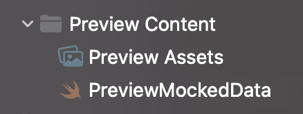 """New Xcode projects contain a """"Preview Assets"""" asset catalog by default."""